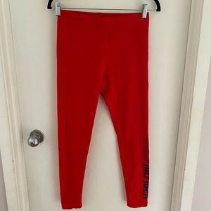 Tommy Hilfiger red sports leggings, size S